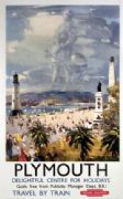 Plymouth, Devon, Sir Francis Drake. Vintage British Railways Travel Poster.